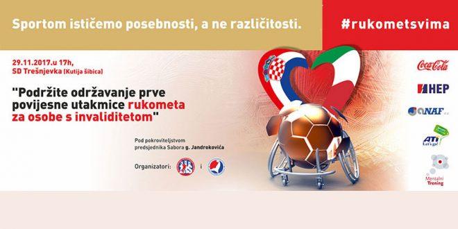 Prva povijesna rukometna utakmica osoba u invalidskim kolicima: Hrvatska – Italija